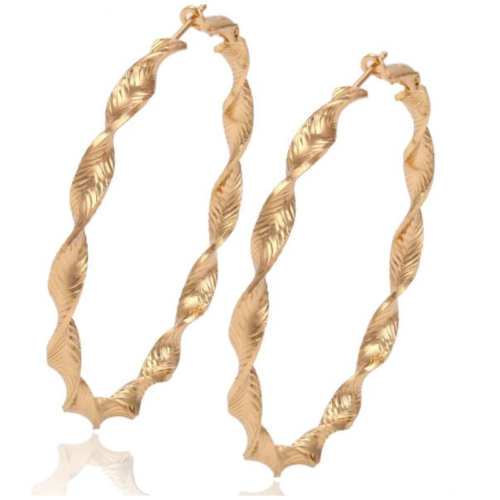 Earrings hoop Gold plated