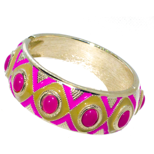 Fashion Bracelet Pink and Gold
