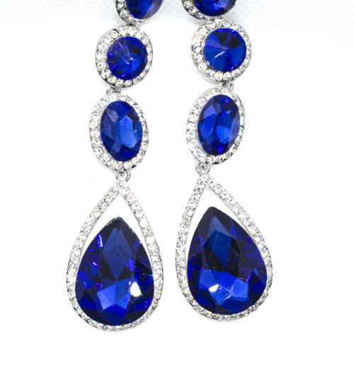 4 Layer Earring Blue
