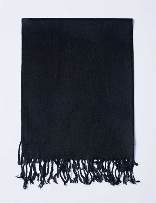 Cotton Scarf Solid Color – BLACK