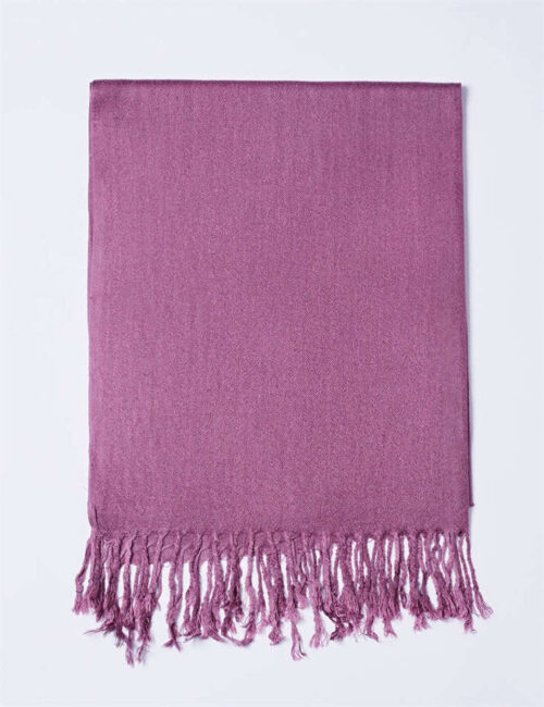 Cotton Scarf Solid Color Orchid