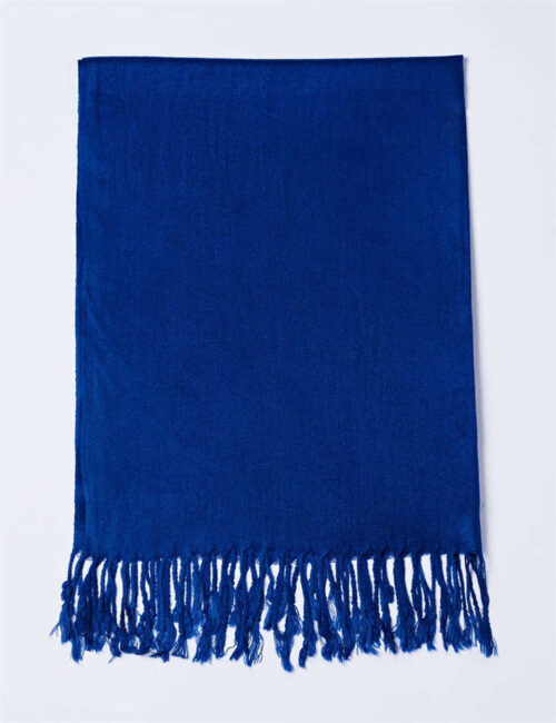 Cotton Scarf Solid Color – BLUE