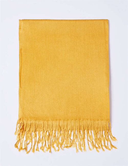 Cotton Scarf Solid Color Gold