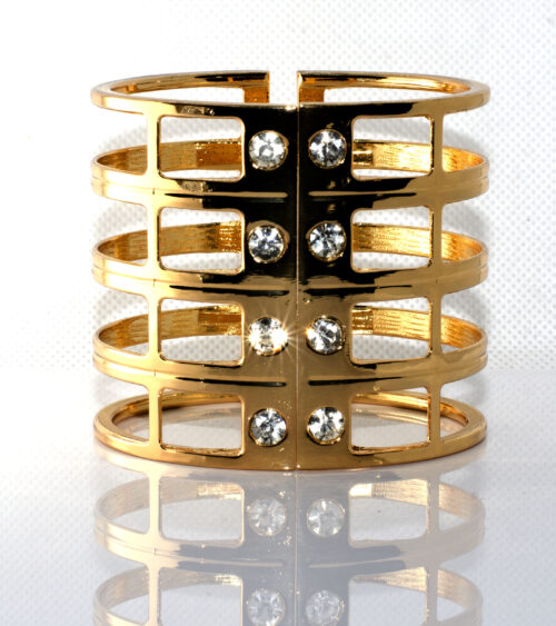 Bracelet 5 layer Gold & Silver