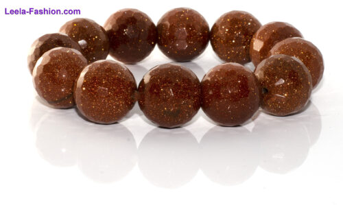 Bracelet – Brown  With Golden sparkles