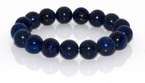 NATURAL GEMSTONE BRACELET-Blue Earth Round