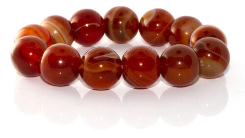 GEMSTONE BRACELET- RED Agate