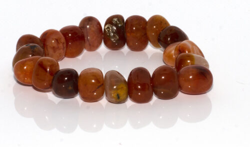 GEMSTONE BRACELET- RED Agate shapes