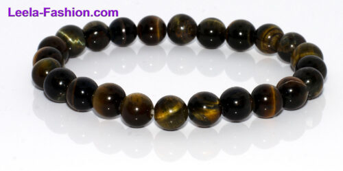 NATURAL GEMSTONE BRACELET-TIGER EYE