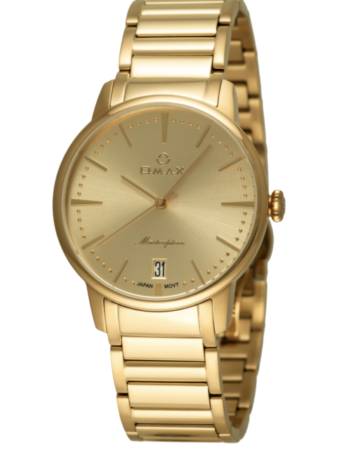 OMAX Wristwatch Gold with Date for Men