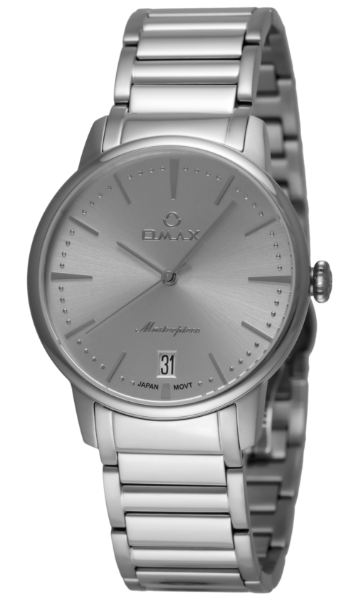 OMAX Wristwatch Silver for Men