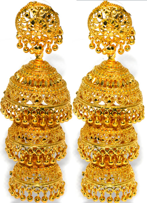 Three layer Jhumka Gold
