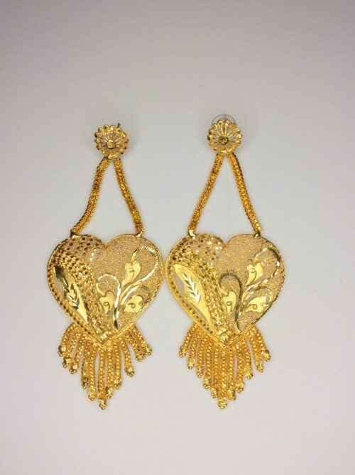 Earring Golden Heart