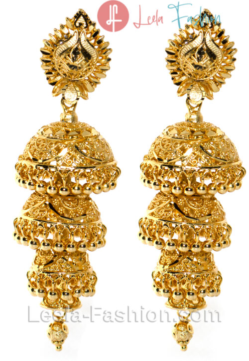 Four layer Jhumka Gold